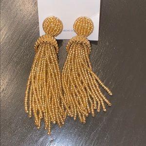 Baublebar Earrings with Gold Beaded Tassels